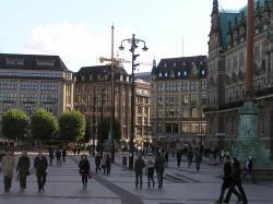 Рыночная площадь Гамбурга с ратушей
